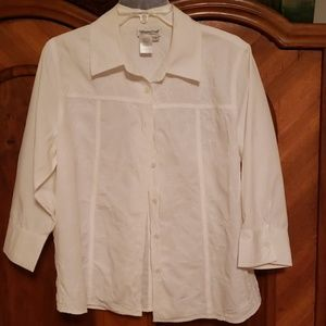 COLDWATER CREEK button up shirt with sewn in desig